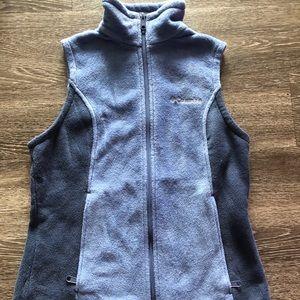 Blue Columbia Fleece Vest